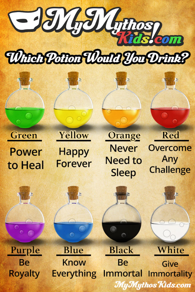 SHARE – What Magic Potion Would You Drink? | MyMythos Kids